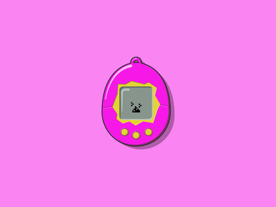 Tamagotchi japan 1990s illustration illustrator vectors vector art vector illustration vector tamagotchi