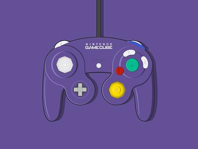 Nintendo Gamecube Controller vectors vector art vector illustration illustration vector video games videogames videogame controller nintendo gamecube