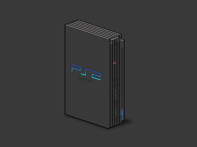 PlayStation 2 affinity designer vector illustration illustration vector play game console video game video games sony playstation 2 playstation