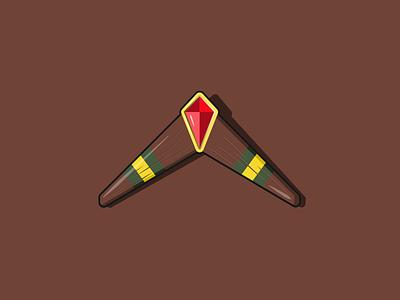 Ocarina of Time's Boomerang nintendo zelda vector art illustration vector illustration vector ve graphic design
