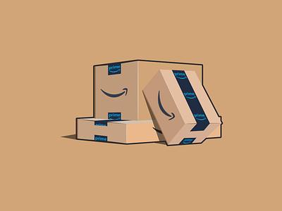 Amazon Boxes affinity designer amazon vector art design vector illustration illustration vector vec