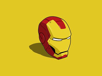 Iron Man helmet marvel universe iron man marvel vector art design vector illustration illustration vector