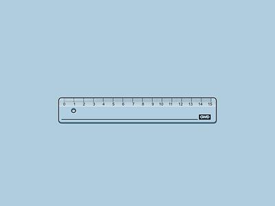 Ruler tool school ruler vector art design vector illustration illustration vector