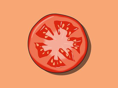 Tomato slice salad tomato vector art design vector illustration illustration vector