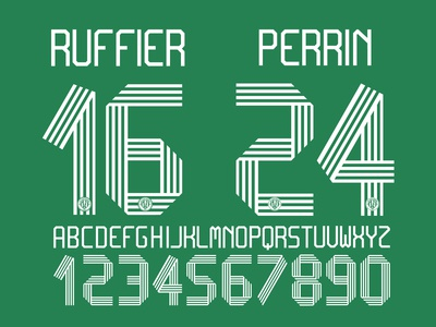 AS Saint-Étienne custom font