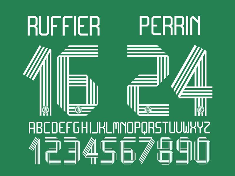 AS Saint-Étienne custom font