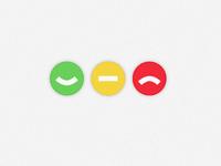ok, neutral, warning icons