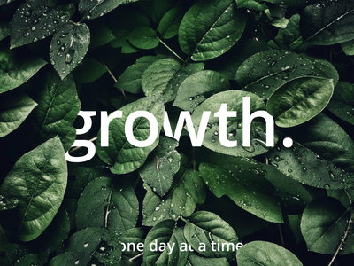 GROWTH graphicdesign 100daychallenge day one design challenge plants photoshop typography design
