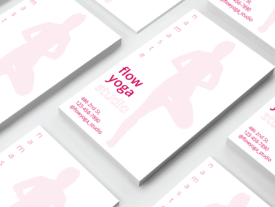 Yoga Business Cards - Day 008