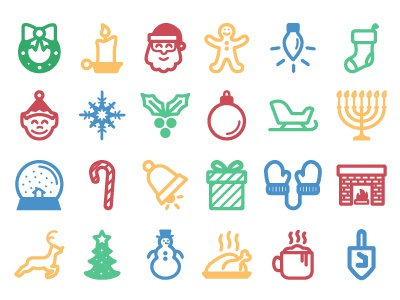Holiday icons color 01
