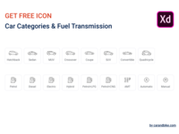 Get Free Line icons - Car Categories, Fuel & Transmission