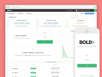 Bold Payouts front end web ui product payout payouts dashboard bold app