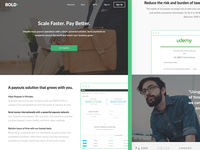 Bold Payouts - Scale Faster. Pay Better. webdesign web ui splash simple payouts page modern gobold economy contractor bold