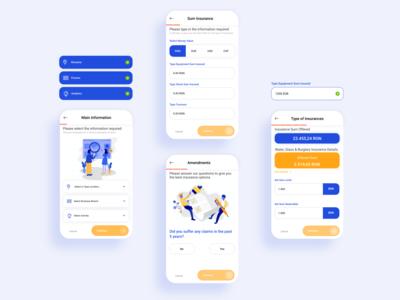 Insurance app design