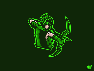 Green Arrow Mascot Design