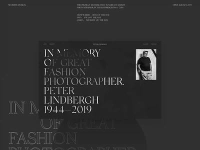 Peter Lindbergh Behance Presentation grid fashion intercation animation ui web swiss photo photographer typography design minimal