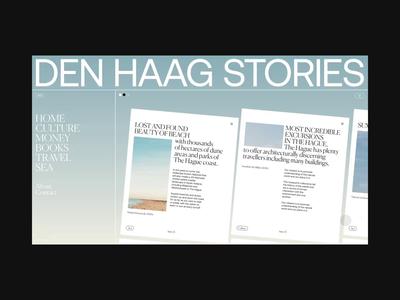 Den Haag Stories ux ui fashion website design netherlands animation interaction typography website swiss black minimal