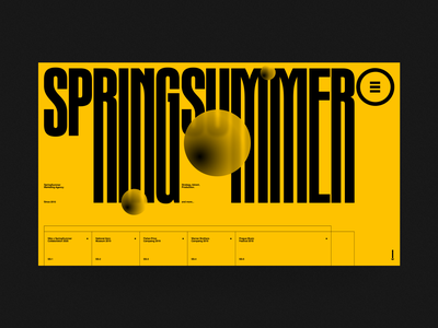 SpringSummer fashion swiss design illustration branding typography ui web marketing site marketing agency minimal