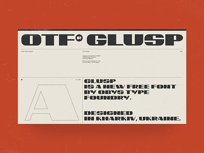 OTF® Glusp fonts font family font design typeface free type font ussr swiss black design typography minimal