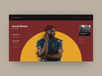 Jacob Banks Website Design video label music banks jacob black typography site web design minimal