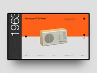 Website design for Dieter Rams