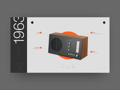 Tischsuper RT 20 Radio page design dieter rams dieterrams typography swiss web site ui helvetica design minimal