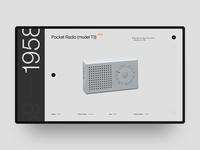 Pocket Radio (model T3) product page