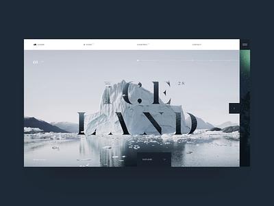 Iceger interaction site web ui ux website photo swiss travel fashion finland minimal design iceland