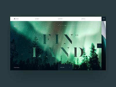 Finland grid interaction ux website iceland finland site ui web swiss black design minimal