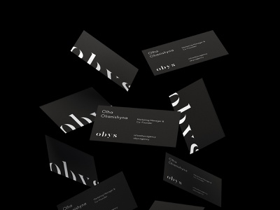 Obys Identity (Business cards) busines card identity branding logo vector typography helvetica site swiss black design minimal
