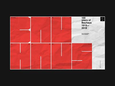 Bauhaus 100 years constructionism bauhaus logo branding online animation grid interaction ux website web helvetica fashion typography site ui swiss black design minimal