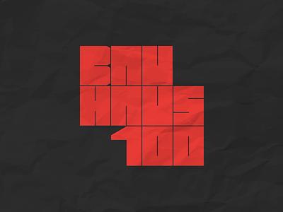 Bauhaus 100th Anniversary icon vector identity animation branding logo grid bauhaus100 bauhaus ux typography fashion helvetica web site ui swiss black design minimal