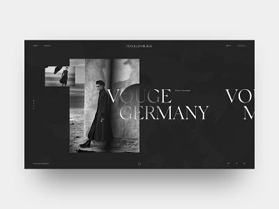 Peter Lindbergh branding peter lindbergh web helvetica fashion typography site swiss black design minimal