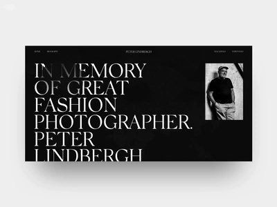 Peter Linbergh photographer photography typography fashion helvetica ui web black swiss peter lindbergh design minimal