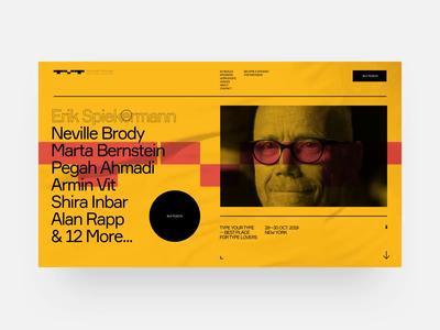 TYT typography site animation interaction fashion website typography swiss black design minimal