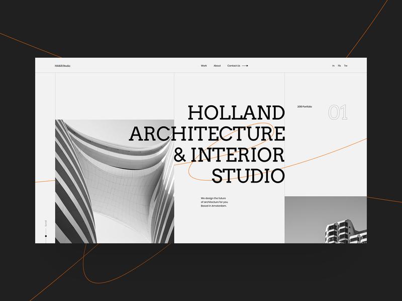 HA&IS ux website typography ui web site swiss design black minimal