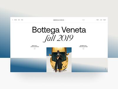 Bottega Veneta grid interaction ux website ui web site black minimal luxury fashion veneta