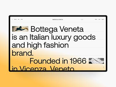 Bottega Veneta About typography bottega veneta interaction ux website webdesign web ui bag goods luxury fashion black minimal