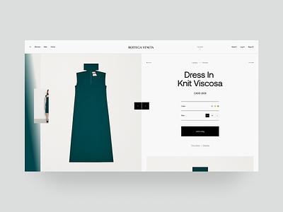 Bottega Veneta Product Page ux web website ui design fashion design typography fashion brand ecommerce catalog product card fashion minimal