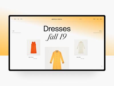 Bottega Veneta Catalog web swiss black design fashion brand catalog website site ui typography fashion minimal