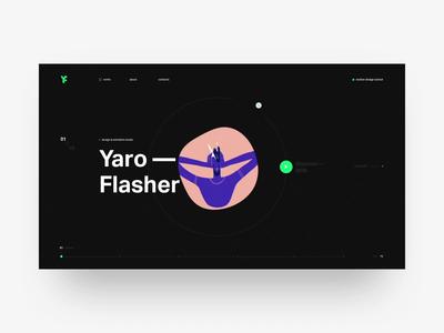 Yaroflasher grid ux helvetica fashion interaction animation swiss web black design minimal motion design