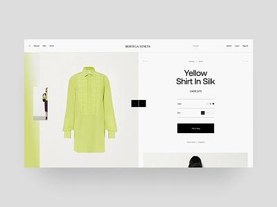 Bottega Veneta Product Card Animation site store ecommerce cart ux moda ui interaction animation fashion black design minimal