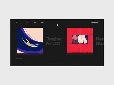 Yaroflasher Works animation interaction typography site fashion ui web black design minimal