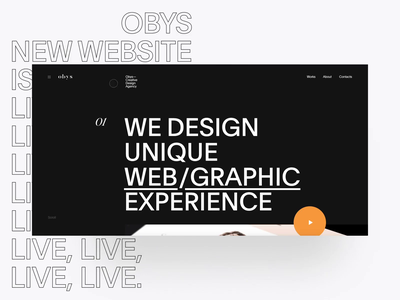 Obys new website branding web interaction fashion site website typography black design minimal obys animation