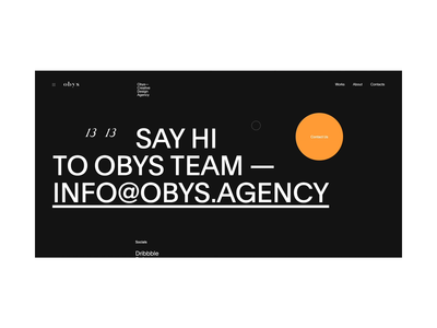Obys Contacts branding website ui fashion web swiss minimal black design contrast contact page contact