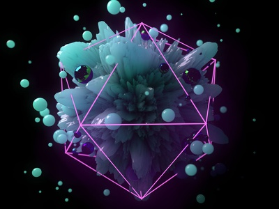 Abstract Render neon geometric cinema4d c4d render abstract