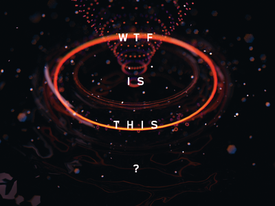 WTF is this? glass neon vortex particles dark orange is the new black orange wtf type abstract cinema4d c4d