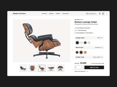 Premium Furniture - Ecommerce Store product page ecommerce design landing page ecommerce webdesign web ux ui