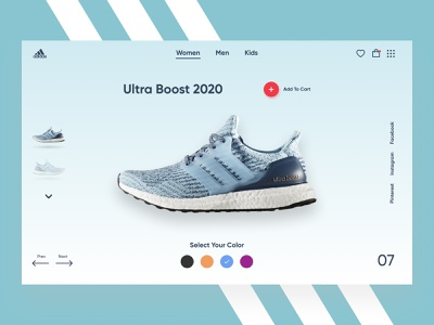 Adidas - Product Page running sneakers adidas shopify plus ecommerce shop branding product page ecommerce design ecommerce website landing page webdesign web ux ui