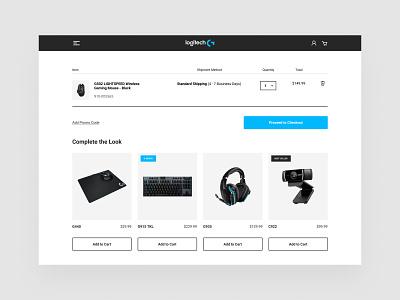 Logitech Cart Page - UI Concept ecommerce shop branding website cart page ecommerce design ecommerce web ux ui webdesign
